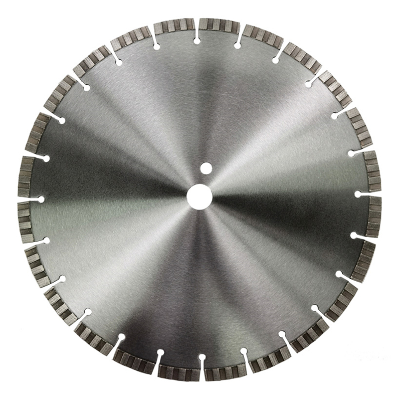 Laser welded turbo array pattern segments diamond saw blade for cured concrete