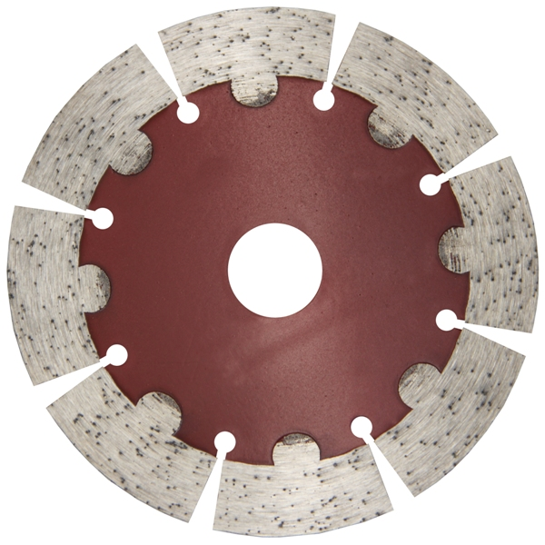 Hot pressed sintered  blade with protective teeth