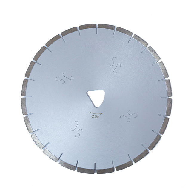 300-350mm Laser welded diamond saw blade for Fresh concrete SOFT-CUT machine