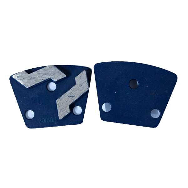 Two segment diamond concrete floor grinding shoes