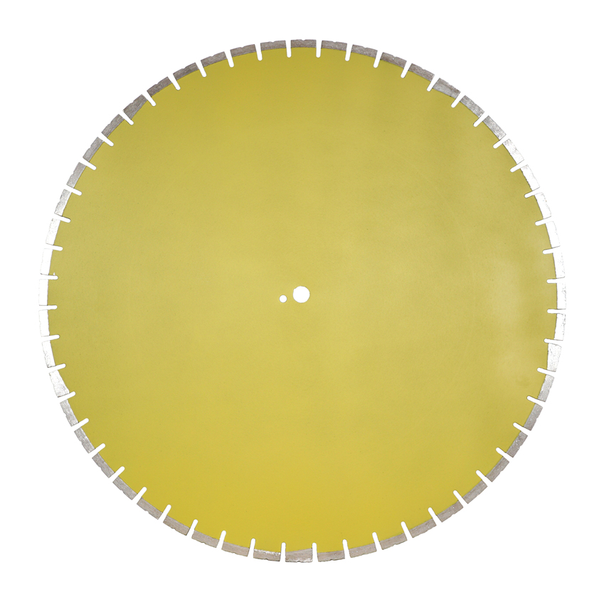 Laser welded diamond floor saw blade for reinforced concrete